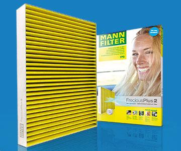 Filtros de la marca MANN FILTER con su caja